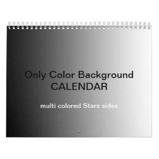 Only Color Backgr Calendar - multi colored stars