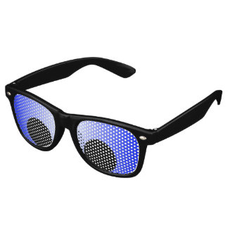 Only Color Background - blue gradient Retro Sunglasses