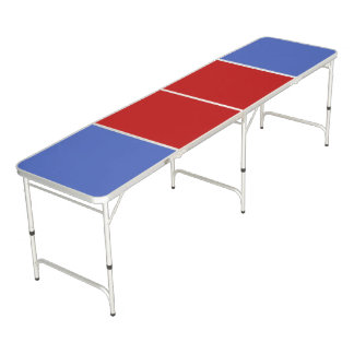 Only Color Background - blue red + your ideas Beer Pong Table