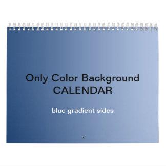 Only Color Background Calendar - Blue Gradients