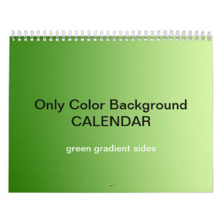 Only Color Background Calendar - Green Gradients