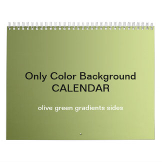 Only Color Background Calendar - green olive grad.