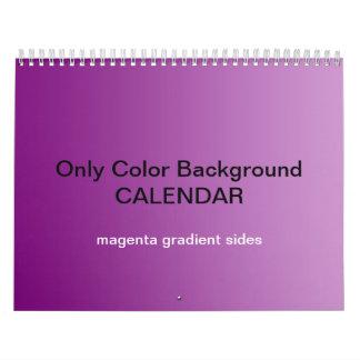 Only Color Background Calendar - Magenta Gradients
