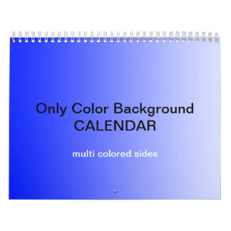 Only Color Background Calendar - multi colored
