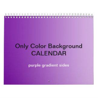 Only Color Background Calendar - Purple Gradients