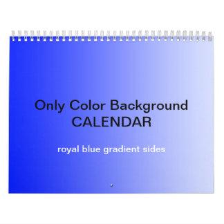 Only Color Background Calendar - Royal blue
