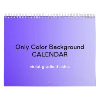 Only Color Background Calendar - Violet Gradients
