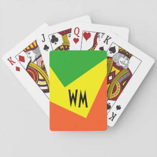 Only Color Background - grass green lemon yellow Playing Cards