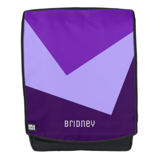 Only Color Background - violet purple + your ideas Backpack