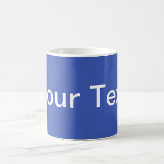 ONLY COLOR / blue + your text Classic White Coffee Mug