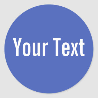 ONLY COLOR | blue + your text Classic Round Sticker