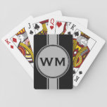 ONLY COLOR / BUTTON BANNER white + monogram Card Decks