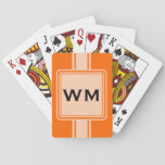 "ONLY COLOR / BUTTON BANNER white   monogram Playing Cards<br><div class=""desc"">Only Color Composing by EDDA Fr&#246;hlich 