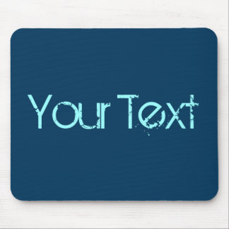 ONLY COLOR / dark blue + your text Mouse Pad