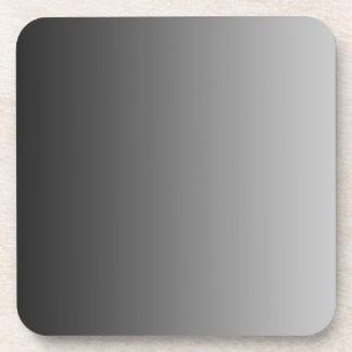 ONLY COLOR gradients - black grey Beverage Coaster