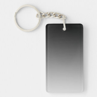 ONLY COLOR gradients - black grey Double-Sided Rectangular Acrylic Keychain