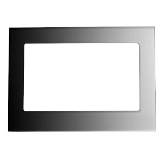 ONLY COLOR gradients - black grey Magnetic Picture Frame