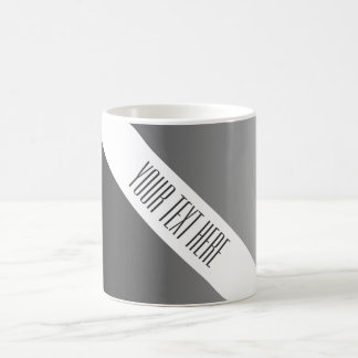 ONLY COLOR gradients - black grey + your text Coffee Mugs
