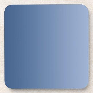 ONLY COLOR gradients - blue Beverage Coaster