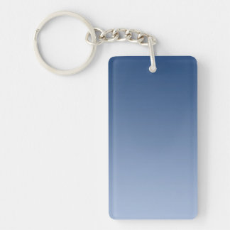 ONLY COLOR gradients - blue Double-Sided Rectangular Acrylic Keychain
