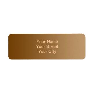 ONLY COLOR gradients - brown Return Address Label