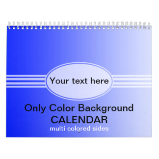 Only Color Gradients Calendar - multi colored