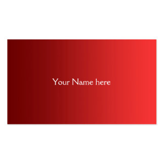 ONLY COLOR gradients - fire red Business Card