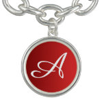 ONLY COLOR gradients fire red + your monogram Charm Bracelet