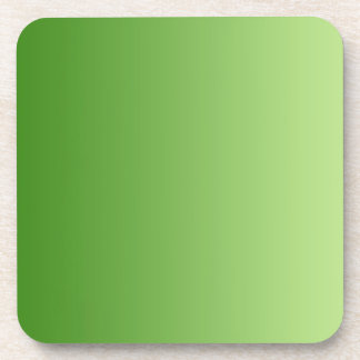 ONLY COLOR gradients - green Beverage Coaster