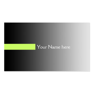 ONLY COLOR gradients grey - stripes green + text Business Card