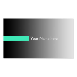 ONLY COLOR gradients grey - stripes mint + text Business Card