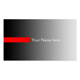 ONLY COLOR gradients grey - stripes red + text Business Card