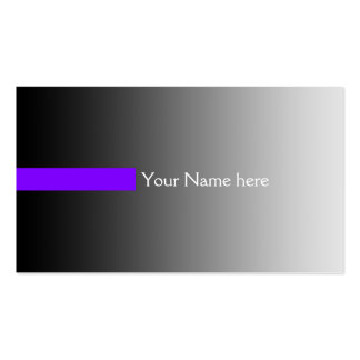 ONLY COLOR gradients grey - stripes violet + text Business Card