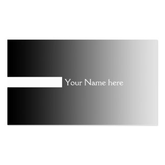 ONLY COLOR gradients grey - stripes white + text Business Card