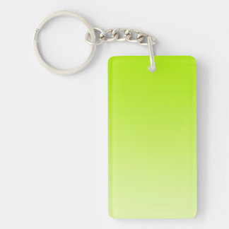 ONLY COLOR gradients - jump green Double-Sided Rectangular Acrylic Keychain