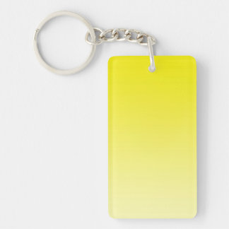 ONLY COLOR gradients - lemon Double-Sided Rectangular Acrylic Keychain