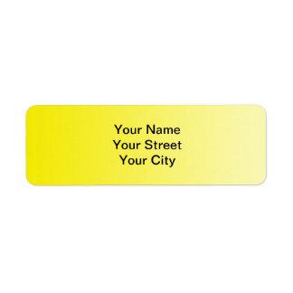 ONLY COLOR gradients - lemon Label