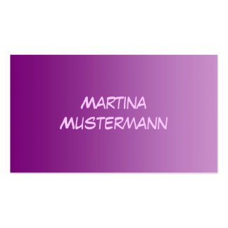 ONLY COLOR gradients - magenta Business Card