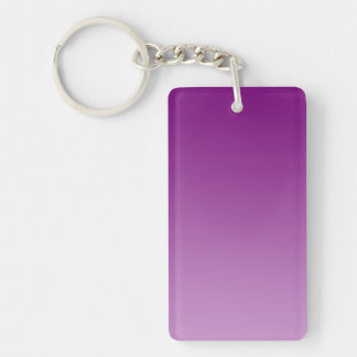 ONLY COLOR gradients - magenta Double-Sided Rectangular Acrylic Keychain