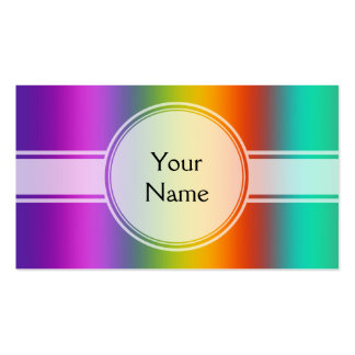 ONLY COLOR gradients - multi color + your text Business Card
