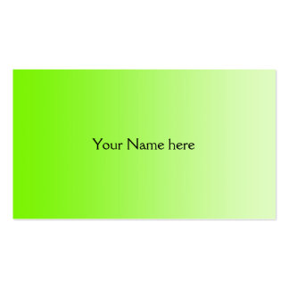 ONLY COLOR gradients - neon green Business Card