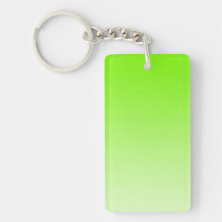 ONLY COLOR gradients - neon green Double-Sided Rectangular Acrylic Keychain