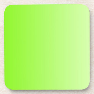 ONLY COLOR gradients - neon green Drink Coaster