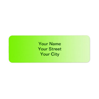 ONLY COLOR gradients - neon green Return Address Labels