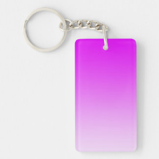 ONLY COLOR gradients - neon pink Double-Sided Rectangular Acrylic Keychain