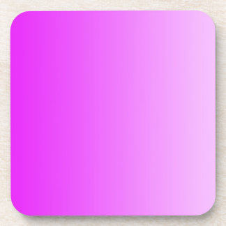 ONLY COLOR gradients - neon pink Drink Coaster
