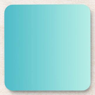 ONLY COLOR gradients - ocean blue Beverage Coaster