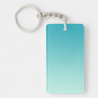 ONLY COLOR gradients - ocean blue Double-Sided Rectangular Acrylic Keychain