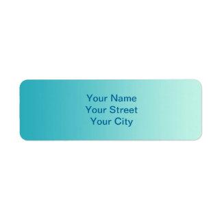 ONLY COLOR gradients - ocean blue Custom Return Address Labels