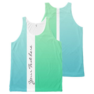 Only Color gradients - Ocean blue & Ocean green All-Over-Print Tank Top